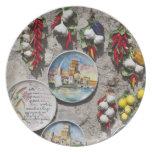 Italy, Brescia Province, Sirmione. Souvenirs. Party Plate