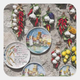 Italy, Brescia Province, Sirmione. Souvenirs. Square Sticker
