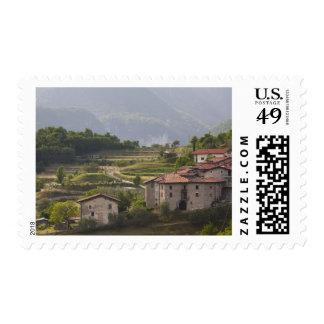 Italy, Brescia Province, Tremosine. Mountain Stamp