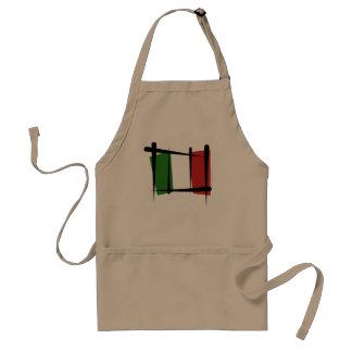 Italy Brush Flag Adult Apron
