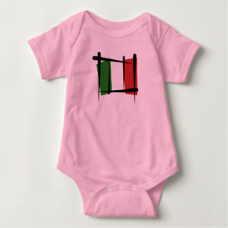 Italy Brush Flag Baby Bodysuit