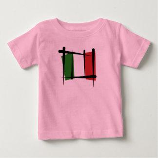 Italy Brush Flag Baby T-Shirt
