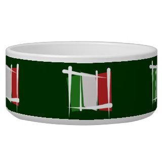 Italy Brush Flag Bowl