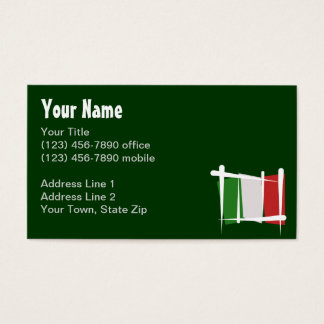 Italy Brush Flag Business Card