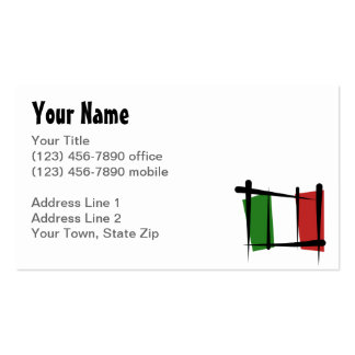 Italy Brush Flag Business Card Template