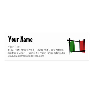 Italy Brush Flag Business Cards
