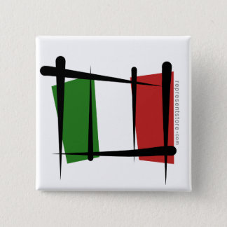 Italy Brush Flag Button
