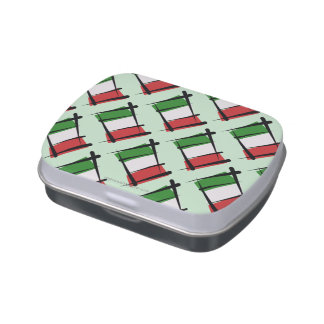 Italy Brush Flag Candy Tins