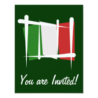 Italy Brush Flag Card