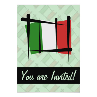 Italy Brush Flag Card
