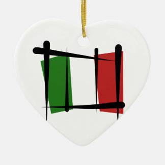 Italy Brush Flag Ceramic Ornament