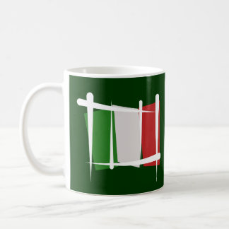 Italy Brush Flag Coffee Mug