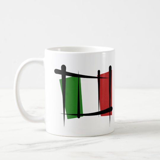 Italy Brush Flag Coffee Mug