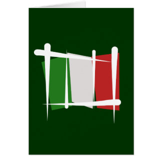 Italy Brush Flag Greeting Card