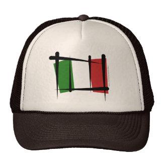 Italy Brush Flag Hat