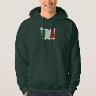 Italy Brush Flag Hoodie