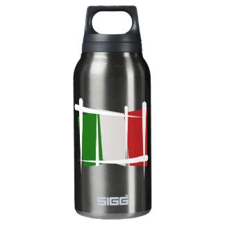 Italy Brush Flag Insulated Water Bottle