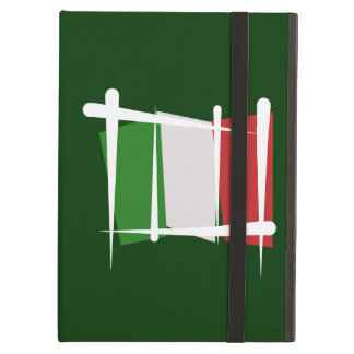 Italy Brush Flag iPad Folio Cases