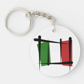 Italy Brush Flag Keychain