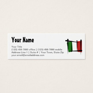 Italy Brush Flag Mini Business Card