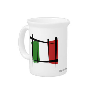 Italy Brush Flag Drink Pitchers
