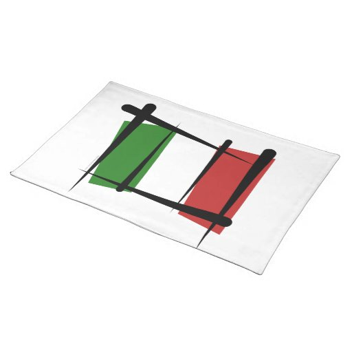 Italy Brush Flag Place Mat