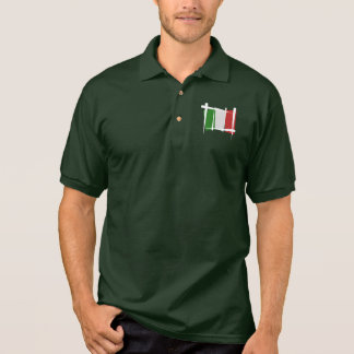 Italy Brush Flag Polo Shirt