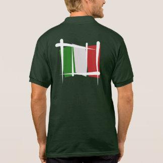 Italy Brush Flag Polo Shirt