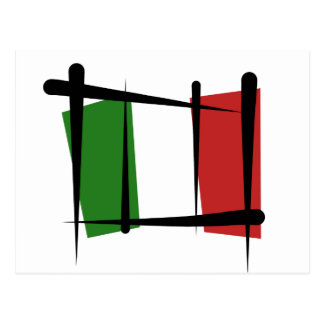Italy Brush Flag Post Cards