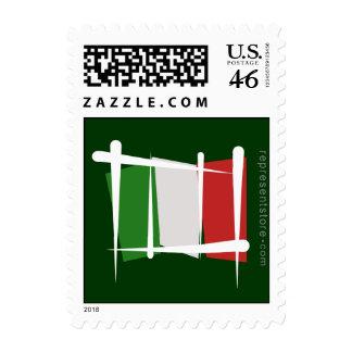 Italy Brush Flag Postage