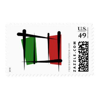 Italy Brush Flag Postage Stamp