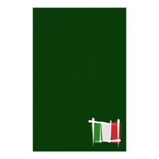 Italy Brush Flag Stationery Paper