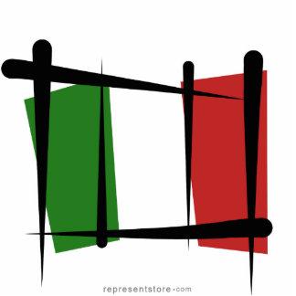 Italy Brush Flag Statuette