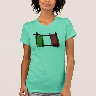 Italy Brush Flag T-Shirt
