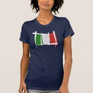 Italy Brush Flag Tee Shirts