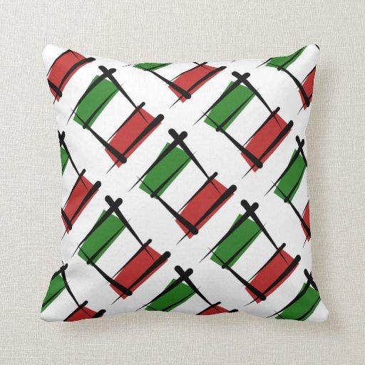 Italy Brush Flag Throw Pillow