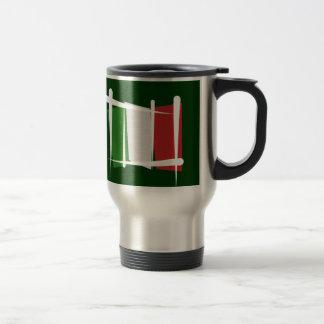 Italy Brush Flag Travel Mug