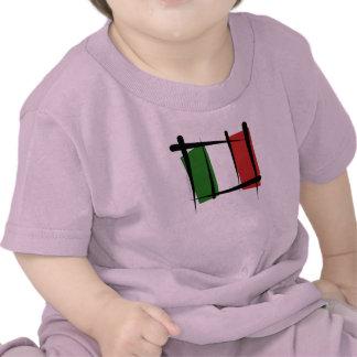 Italy Brush Flag Shirt