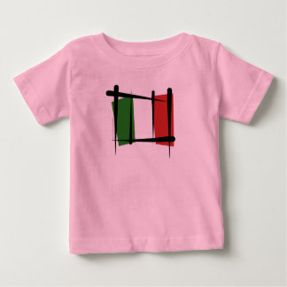 Italy Brush Flag T-shirts