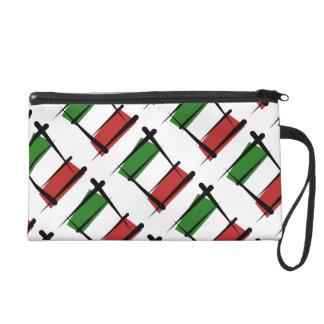 Italy Brush Flag Wristlet Clutches