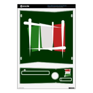 Italy Brush Flag Xbox 360 S Console Skins