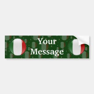 Italy Bubble Flag Car Bumper Sticker