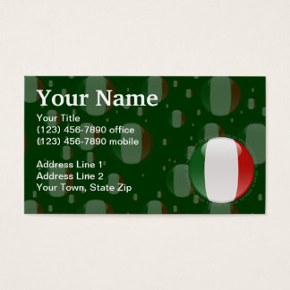 Italy Bubble Flag Business Card