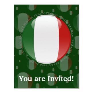Italy Bubble Flag Card