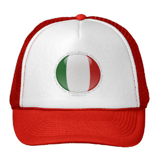 Italy Bubble Flag Hats