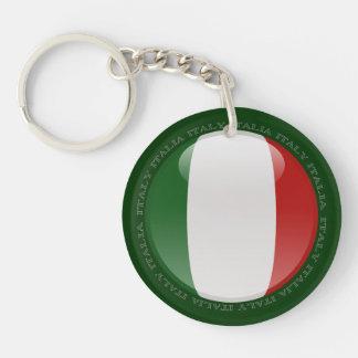Italy Bubble Flag Keychain