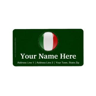 Italy Bubble Flag Address Label