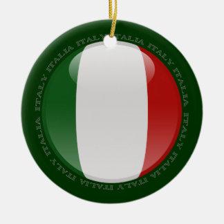 Italy Bubble Flag Christmas Ornament