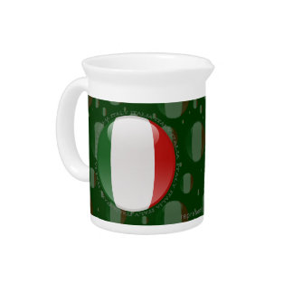 Italy Bubble Flag Beverage Pitcher