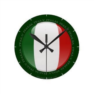Italy Bubble Flag Round Clock